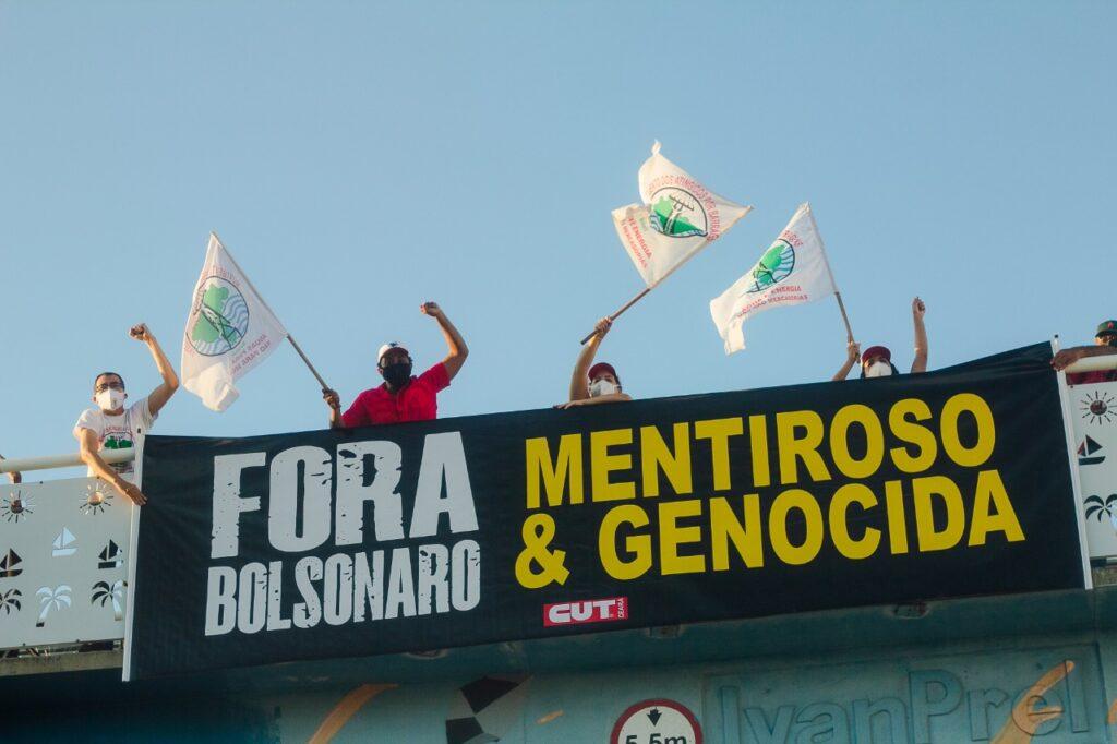 Carreata #ForaBolsonaro em Fortaleza, começou na Arena Castelão e foi até s Praça da Imprensa.