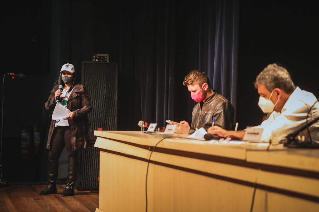 Reunião entre representantes do MAB e da prefeitura de Porto Alegre. Foto: Cesar Lopes /PMPA