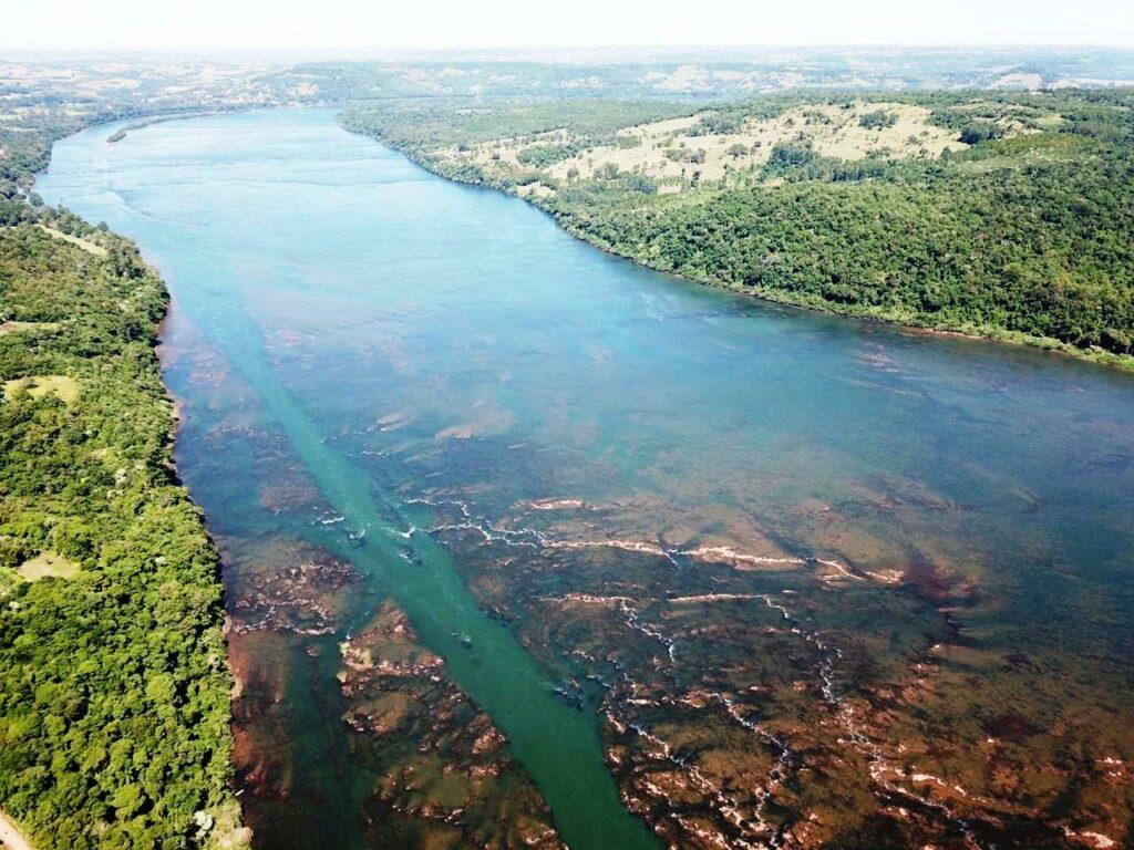 Vista do Rio Uruguai em Porto de Mauá (RS). Foto: Silvio da Silva Vargas / Fotos Públicas