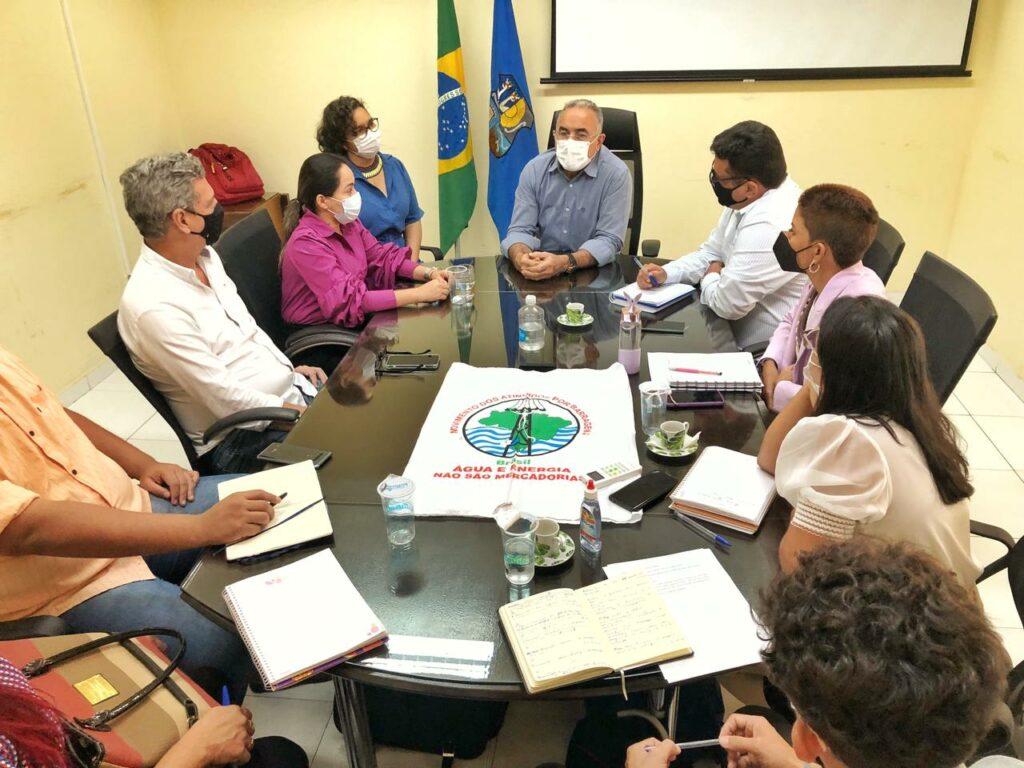 Além do prefeito Edmilson Rodrigues, a reunião contou com presença de diversos secretários do município