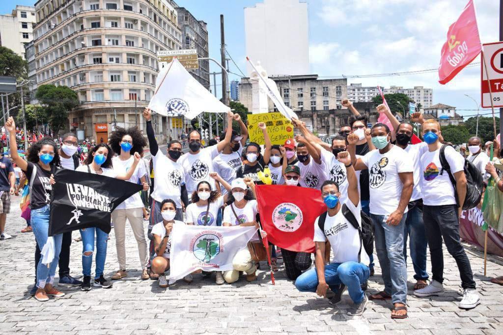 Integrantes do MAB em ato em Salvador (BA)